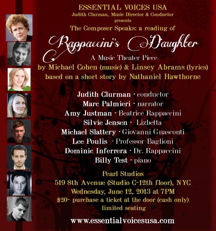 RAPPACCINI'S DAUGHTER an opera | LINSEY ABRAMS