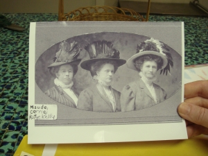 Great aunt Maude, the milliner; my paternal grandmother, Corrie (who  died when my father was 21); and great aunt Katye. My great great grandfather, Lucius Kelly, of Monticello, Georgia, sent all his six daughters to college.