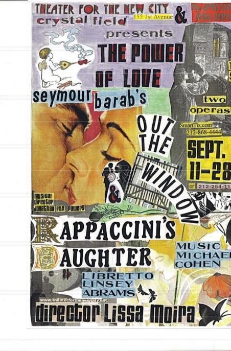 September 12-28  Thurs-Sat @ 8 PM  Sun @ 3 PM Tickets $18 SmartTix.com (212) 866-4444
