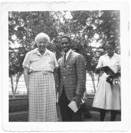 Eleanor Roosevelt and Philip, once upon a time.